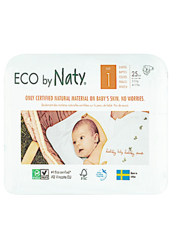 Naty Eco Diapers 1 / Naty babycare luiers new born 1