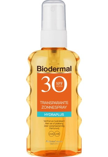 Biodermal Transparante Zonnespray SPF30 175 ml