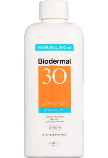 Biodermal Hydra Plus Zonnemelk SPF30 300 ml