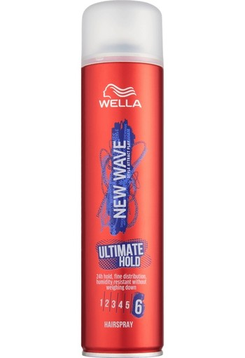 Wella New Wave Ultimate Hold Hairspray level 6 400 ml