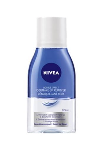 NIVEA DOUBLE EFFECT WATERPROOF OOGMAKE-UP REMOVER 125 ML