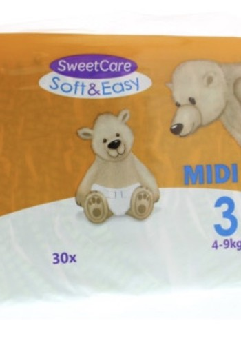 Sweetcare Luiers Soft & Easy Midi Nr 3 4-9kg 30st