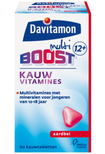 Davitamon Multi Boost 12+ Kauwvitamines Aardbei 60tb