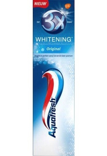 Aquafresh Tandpasta 3 X Whitening 75ml