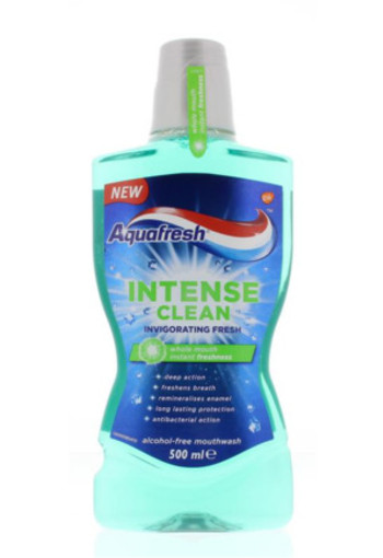 Aquafresh Mondwater Intense Clean Fresh 500ml