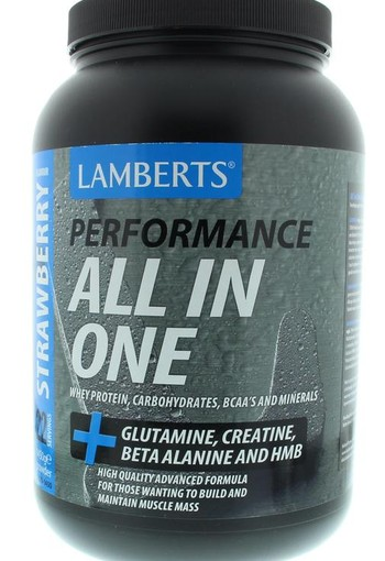 Lamberts All in one whey proteine aardbei (1450 gram)