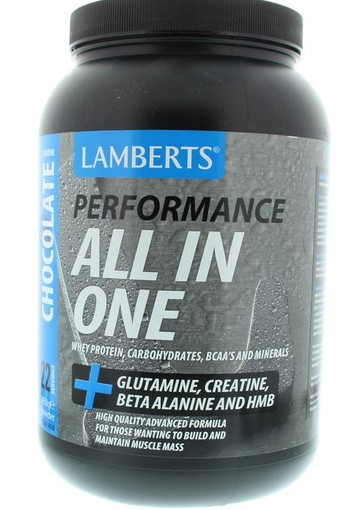 Lamberts All in one whey proteine chocolade (1450 gram)