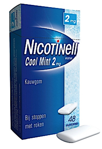 Nicotinell Kauwgom Cool Mint 2 Mg 48st