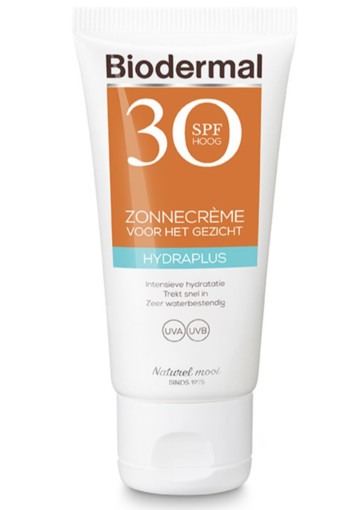 Biodermal Zonnecreme gezicht hydraplus SPF30 (50 ml)