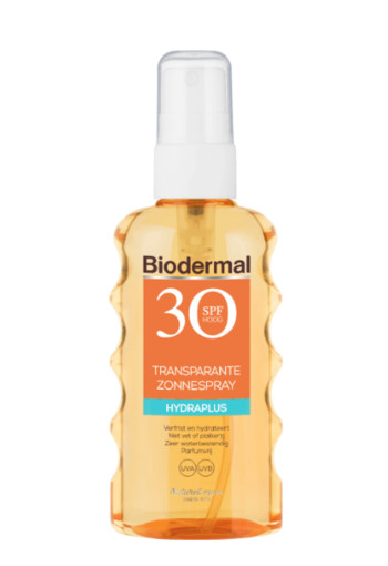 Biodermal Transparantspray hydraplus SPF30 (175 ml)