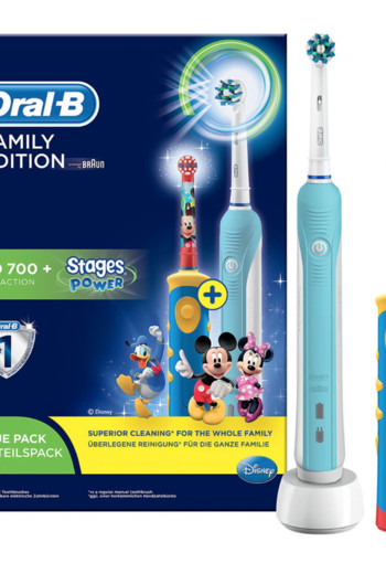Oral-B Pro 700 + Stages Power Familypack  2 Elektrische Tandenborstels