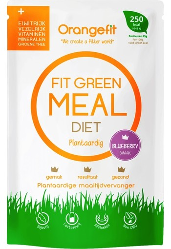Orange Fit green meal diet blueberry 250 kcal 65 gr.