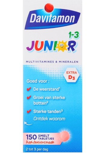Davitamon Junior 1+ smelttablet 150 tabletten