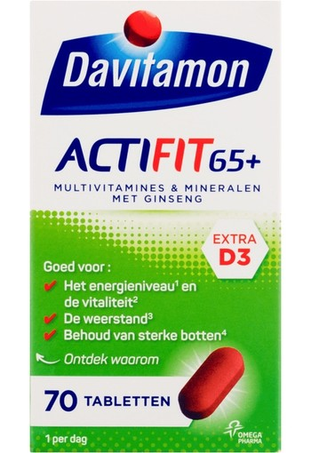 Davitamon Actifit 65+ 70 tabletten