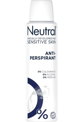 Neutral Anti-transparant Parfumvrij Deodorant Spuitbus 150ml
