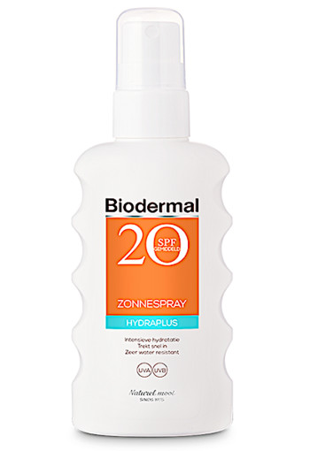 Biodermal Zonnespray Hydraplus Factor(spf)20. 175 ml