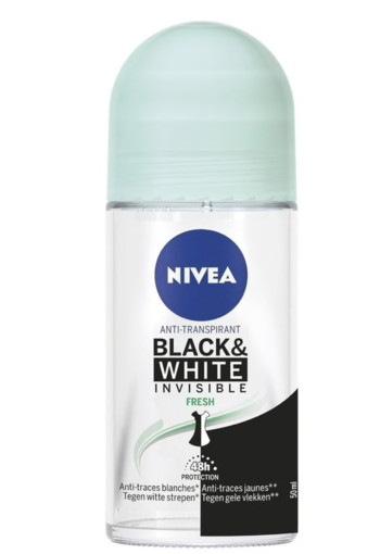 Nivea Deodorant roller invisible black & white fresh (50 ml)