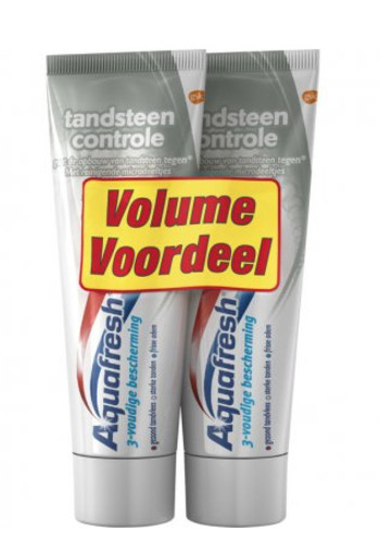 Aquafresh Tandpasta tandsteen 75 ml duo (150 ml)