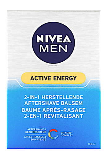 NIVEA MEN Active Energy 2-In-1 Herstellende Aftershave Balsem 100 ml