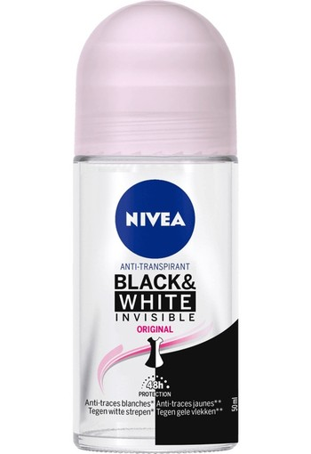 Nivea Deodorant roller invisible black & white clear (50 ml)