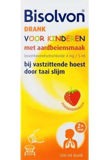 Bisolvon Drank kind aardbei (200 ml)