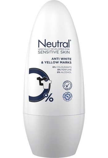 Neutral Anti White & Yellow Marks Deodorant Roller 50 ml
