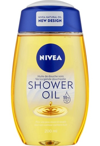 NIVEA NATURAL OIL DOUCHE OLIE VOOR DE DROGE HUID 200 ml