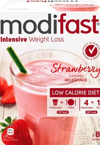 Modifast Milkshake Intensive Weight Loss Strawberry Flavoured 440 g Doos