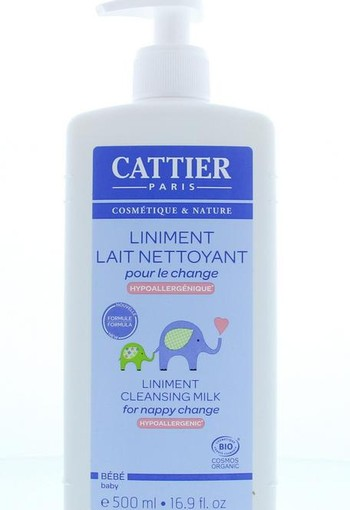 Cattier Baby reinigingsmelk billenbalsem (500 ml)